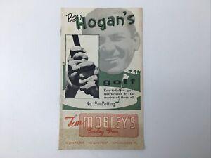 Ben Hogan's Vintage 1st Edition 1953 Golf Instructions No. 9 Putting Booklet