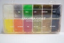 Wapsi Dispenser ANGORA GOAT Dubbing 12 Farben Box Natural Dubbing #1