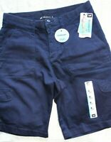 Women's Lee Relaxed Fit Bermuda Shorts Navy Size 6 Medium NWT