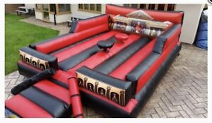 New Commercial Gladiator Duel Bouncy Castle WITH BLOWER START A HIRE BUSINESS
