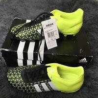 BNIB Adidas Ace 15.3 FG AG Black White Solar Yellow Football Boots BRAND NEW UK8