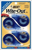 Bic Correction Tape - White Tape - 4 / Pack - White (WOTAPP418)