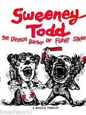 "Stephen Sondheim ""SWEENEY TODD"" Angela Lansbury / Victor Garber 1979 Program"