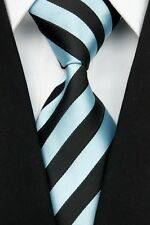 Blue Purple Red Black Gray Stripe Striped Classic Silk Men's Tie Necktie