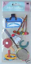 "1741 JOLEE'S 3D Stickers FAMILY GAMES Fun Badminton - Pkg Size 8""x4"""