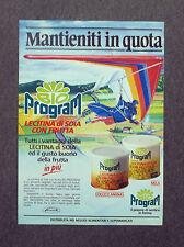 F772 - Advertising Pubblicità - 1988 - PROGRAM LECITINA DI SOIA CON FRUTTA