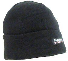 GENTS KNITTED 2 LAYER TREK HAT black work beanie Mens Large Winter outdoor kit