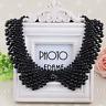Women Detachable Vintage  Pearl beaded Collar Choker Necklace