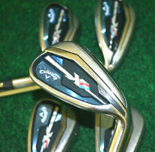 Callaway XR Irons 7-PW-AW 2-Wedge Set Firm Project X 95 Flighted 5.5 Steel