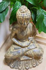 XXL Figura Buddha Thai Budda Feng aprox. 60cm Aspecto Antiguo / blanco ASIA