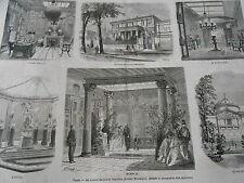 Gravure 1866 - Paris La maison du Prince Napoléon