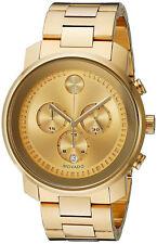 Movado Men's 44mm Gold-tone Steel Bracelet & Case Swiss Quartz Watch 3600278