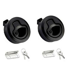 2PCS Slam Latch Hatch Flush Pull W Lock 1/2'' Door Deck Boat Marine Hardware