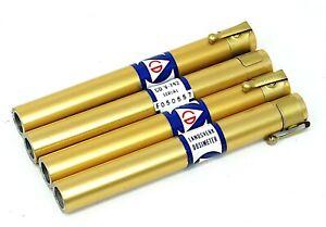 4 Landsverk / Bendix Dosimeter Pens CD V-742 Reads Roentgens Clear - Tested