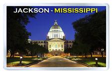JACKSON MISSISSIPPI USA FRIDGE MAGNET SOUVENIR IMAN NEVERA
