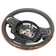 Jaguar XJ Steering Wheel | Black Leather Steering Wheel Black Leather & Walnut
