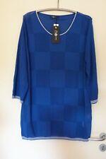 NO SECRET Feinstrick Pullover Damen Gr. 50 NEU royal blau Stretch EDEL LAGENLOOK