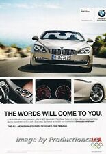 2011 2012 BMW 650i Original Advertisement Print Art Car Ad J676