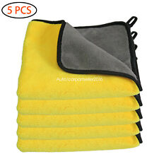 Car Wash Cleaning Towels Coral Velvet Professional Grade Premium 5Pcs Microfiber