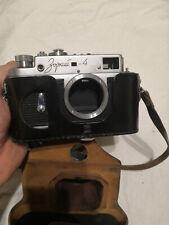 ZORKI-4 Body  rangefinder camera USSR & Original Leather Case