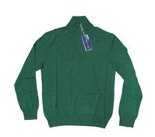 $795 Ralph Lauren Purple Label Mens Italy Wool Knit Mockneck Half Zip Sweater