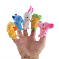 10Pcs/Pack Baby Kids Finger Animal Educational Story Toys Puppets Cloth Plush m4