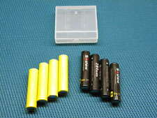 Four 3.2V Rechargeable LiFePO4 Batteries AAA with dummies lightweight high drain