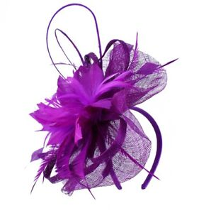 Sinamay & Feather Flower Fascinator Design Headband and clip