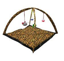 Katze Spielbogen Katzen-Spielstation Spieldecke Ball-und Mäuse-Spielzeug Leopard