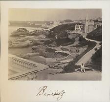 France, Biarritz, Vue générale sur l'Intérieur des Côtes  Vintage albumin p