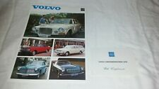 Volvo 121 122 142 144 145 164 1800S 1968 UK Leaflet Sales Brochure & Comp. Slip