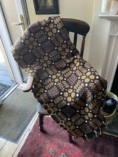 More details for beautiful welsh wool tapestry blanket,good cond,approx 88'' x 88'' autumn colour