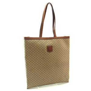 Celine Tote bag Macadam Beige Brown Woman Authentic Used Y1931