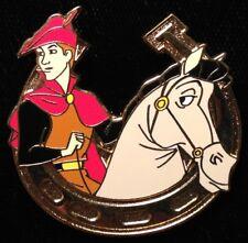 DISNEY PIN - Sleeping Beauty PRINCE Heroes on Horseback Horseshoe Cast Lanyard