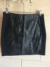Mini Jupe similicuir noir Zara XS 34 stretch