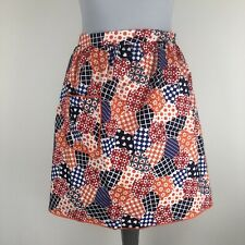 Vintage Colorful Patchwork Style Half Apron Pinny Pocket 100% Cotton Made In UK