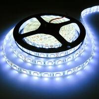 5050 Cool White 5M 300Leds SMD Flexible Led Strip Lights DIY Lamp 12V Waterproof