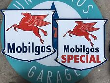 top quality MOBIL GAS & SPECIAL PEGASUS  porcelain coated 18 GAUGE steel signs
