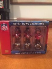 Tampa Bay Buccaneers Super Bowl XXXVII Mini Bobbleheads NIB Forever Collectible