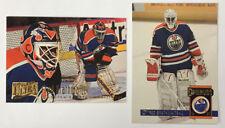 2 Fred Brathwaite RC 1993-94 Donruss #119 & 1994-95 Ultra #289  Edmonton Oilers