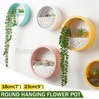 Modern Round Hanging Plant Flower Pot Wall Vase Planter Home Garden House Decor