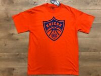Gear For Sports NY New York Knicks Orange Blue Short Sleeve Shirt Mens SZ L