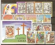 LOT GHANA TIMBRES NEUFS** THEMES RELIGION EGLISE CROIX ECT...