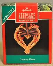 Hallmark - Country Heart - Heart Shaped Wreath - Miniature Ornament