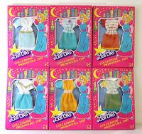 RARI Barbie abiti dresses Vintage 80s COLLEZIONE PRIMAVERA 1987 NUOVI NEW lotto