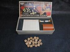 Old Vtg 1971 Selchow & Righter SCRABBLE SENTENCE CUBE GAME No. 96 COMPLETE