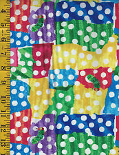 The Very Hungry Caterpillar Cotton quilt fabric Andover BTY White Dots on Patchs