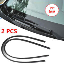 2PCS 26'' 6mm Car Bus Rubber Universal Frameless Windshield Wiper Blade Refill