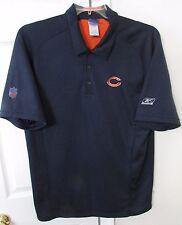 NFL Chicago Bears Golf Polo Shirt Large by Reebok EUC