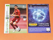 PANUCCI AS ROMA GIALLOROSSI FOOTBALL CARDS PANINI CHAMPIONS LEAGUE 2007-2008